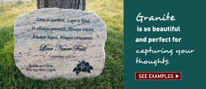 Engraved Granite Memorials